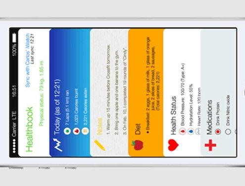 Apple healthbook mock-up