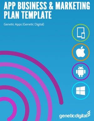 App Business Marketing Plan Template Genetic Apps - Business plan template app