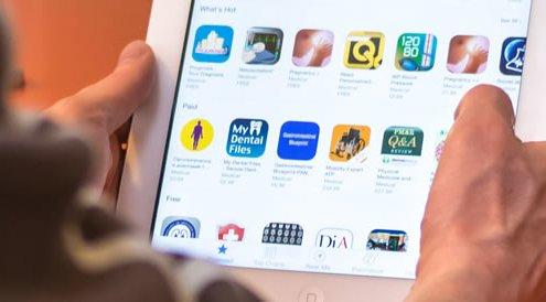 Medical apps on a tablet